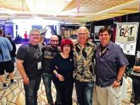L-R: Kevin Dilmore, Robb Pearlman, Paula Block, Terry Erdmann, some guy.