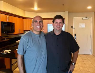 Reunited with fellow Marine Joe Moreno after 30 years.
