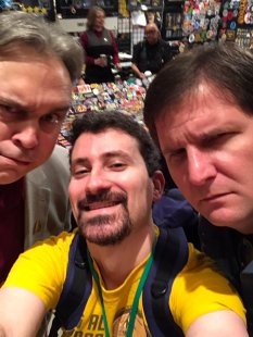 Me and Dave with Justin Oser from