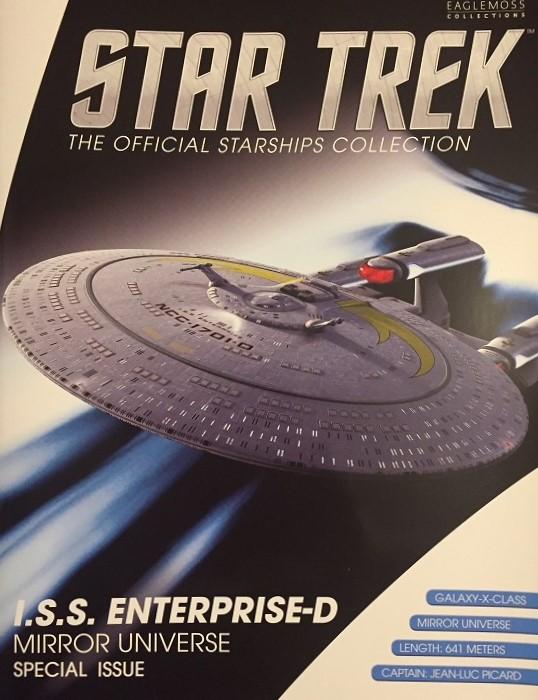 Eaglemoss I S S  Enterprise NCC-1701-D, with words by me