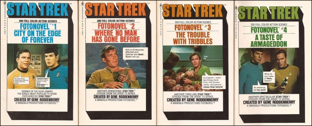 Covers for Star Trek Fotonovels 1-4.